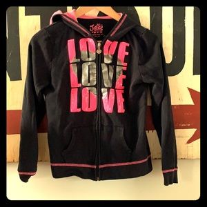Girls Justice black hoodie
